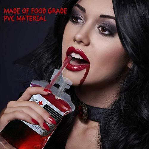 Sponsi Halloween Vampire Wiederverwendbare Blut Trinken Beutel Cosplay Kreative Requisiten Halloween Kostüm Requisiten Krankenschwestern Day Party (Kreative Krankenschwester Kostüm)
