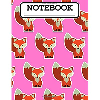 "Notebook: Baby Fox Kawaii Boys & Girls Composition Notebook Cute Anime Hipster Animal 200 Pages 100 Sheets 7.44"" X 9.69 In. For Kids At Elementary ... Request,diary, Journaling,author,wide Ruled"