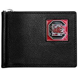 NCAA South Carolina Fighting Gamecocks Leather Bill Clip Wallet