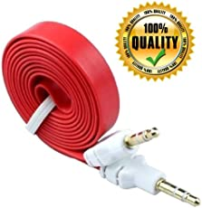PNP Flat AUX Stereo 3.5mm Music Transfer Cable for Mobiles and Speakers (Color May Vary)