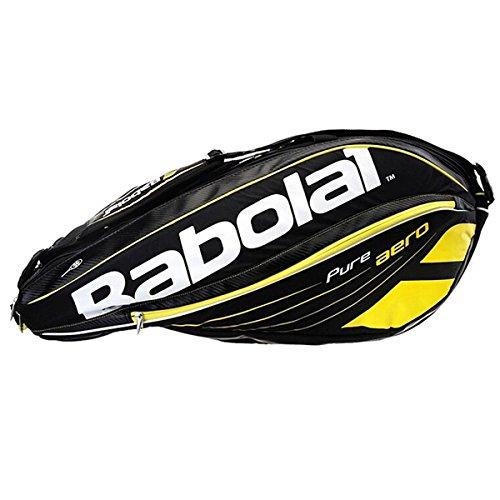 Babolat Schlägertaschen Pure Aero Racket Holder X6, Schwarz, 75 x 32 x 33 cm, 44 Liter, 751102-113