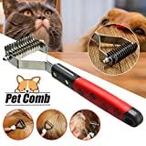 Best Dog Brush For Sheddings - SBE Pet Hair Comb Brushes Rakes Stainless Steel Review