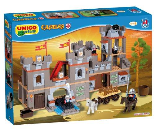 Unico Plus Ritterburg Set mit Pferd Ritter Kanone 359 Bausteine ab 1,5 Jahren