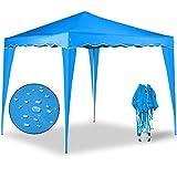 Gazebo Capri 3x3m azzurro chiaro – Gazebo pieghevole Tenda Tenda da giardino Protezione solare Pop-up