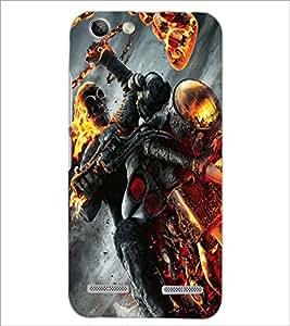 PrintDhaba Ghost Rider D-2172 Back Case Cover for LENOVO LEMON 3 (Multi-Coloured)