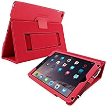 iPad Pro Case, Snugg™ Red Leather iPad Pro 9.7 Smart Case Cover [Lifetime Guarantee] Protective Flip Stand for Apple iPad Pro 9.7 Inch With Auto Wake & Sleep