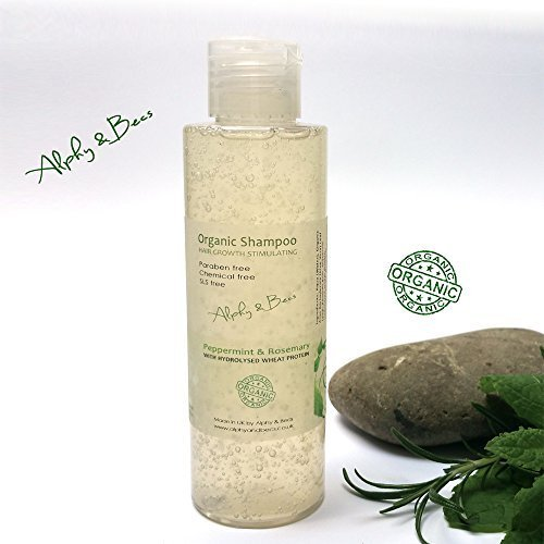 Hair Growth Stimulating Organic Shampoo with Peppermint and Rosemary - 150ml by Alphy & Becs