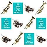 Keep Calm and Play, TROMPETTE Trompette Mix?comestibles pour cupcakes col montant (Lot de 12)