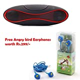 #10: Premium Design Lenovo A6000 Plus Compatible Free Angry Bird Cartoon Earphones with Bluetooth Rugby Speaker ( Random Color)