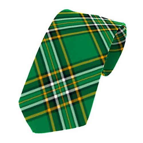 House of Edgar - Herren Krawatten mit irischen Tartanmustern - 100% Wolle - Irish National