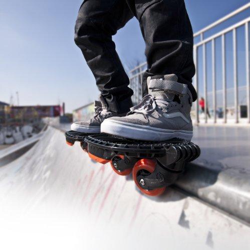 HUDORA 1200 - Skatesystem Twin-Skate, schwarz/rot -