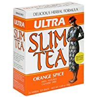 Ultra Slim Tea, Orange Spice, Tea Bags, 24-Count Box (Pack of 4)