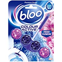 Bloo Blue Active Fresh Flowers Toilet Rim Block, 50 g