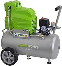 Greenworks Kompressor Set 230 V 24 l inkl. Zubehör 11-teilig