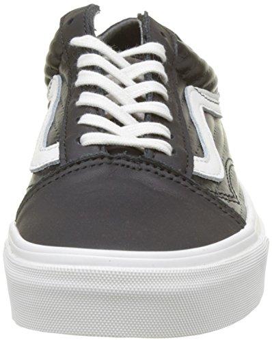 Vans Damen Old Skool Laufschuhe Schwarz (Black/blanc De Blancmoto Leather)