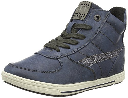Marco Tozzi Cool Club 45203 Mädchen Hohe Sneakers Blau (Navy Ant.Comb 815)