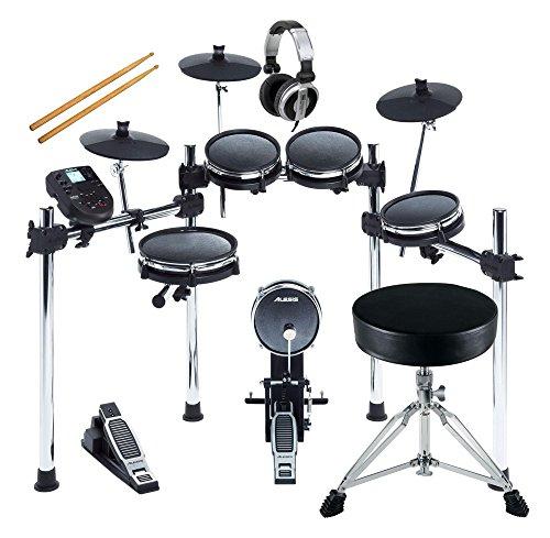 Alesis Surge Mesh Kit Set (Flüsterleises E-Drum mit Meshheads, 8 Pads, zwei zusätzliche Trigger-Eingänge, inkl. Hocker und Kopfhörer) (Rack-zone Controller)