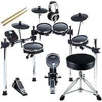 Kopfhörer /& Drumhocker Siebenteiliges elektronisches Schlagzeug mit Mesh Heads
