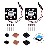 GeeekPi Raspberry Pi Cooling Fan 30 x 30 x 7 mm DC 5 V Brushless Cup Lüfter mit Raspberry Pi Kühlkörper für Raspberry Pi 3/2 Modell B, Raspberry pi 3B + & retroflag nespi Fall Plus (2-Pack)