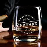 Privatglas Whiskeyglas (Bohemia) – Motiv: Echter Geniesser – mit Gratis Gravur des Vornamens - 2