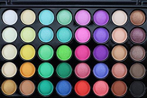 Eyeshadow Palette,PLOT 40 Colors Cosmetic Matte Eyeshadow Cream Shimmer and Brush Set (B)