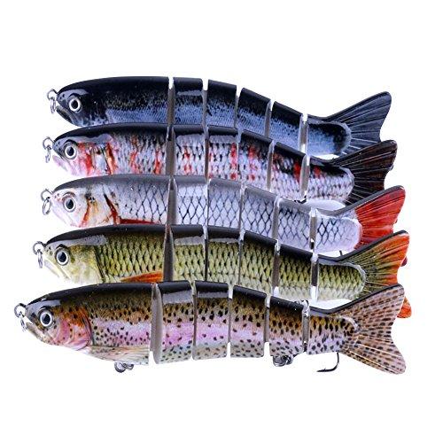 LQZ(TM) Leurres Flottante Set Kit Appât de Pêche Hameçons Accessoires Spinnerbaits Cuillère Souples Mouche Topwater Artificiel 1Pc(couleurs aléatoire)
