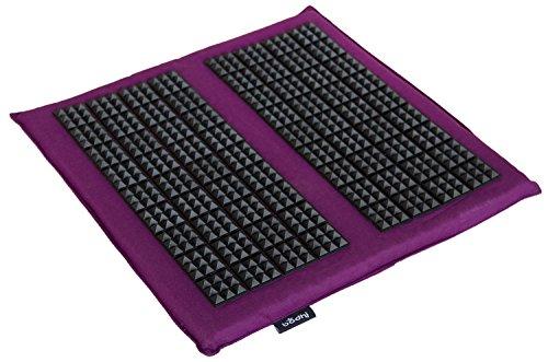 VITAL Akupressur Fuß-Matte SPIKY (aubergine), zur intensiven Stimulierung der Fußreflexzonen, Relax-Matte klein, für die Füße