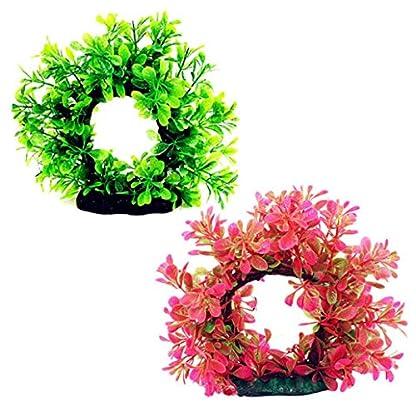 Pengyu Vivid Simulation Plant Creature Aquarium Landscape Fake Aquarium Plant Arches Tree Ornament Fish Tank Plastic… 2