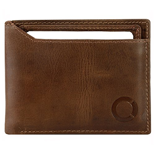 Echt Leder Herren Brieftasche mit abnehmbarem Kreditkartenetui / Geldbörse Portemonnaie Geldbeutel Kreditkartenetui Kartenetui braun (52) Braun
