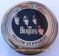Les Beatles Compass Finder avec boîte en cuir. C-3001