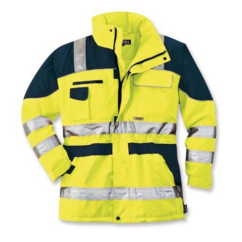 Preisvergleich Produktbild ELUTEX Warnschutz-Parka Safety Plus,  1 Stück,  L,  gelb / navy,  8406