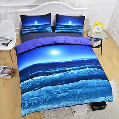 AIURLIFE Nuevo océano playa Duvet Cover Set camas 3D sistema Twin Full Queen , twin