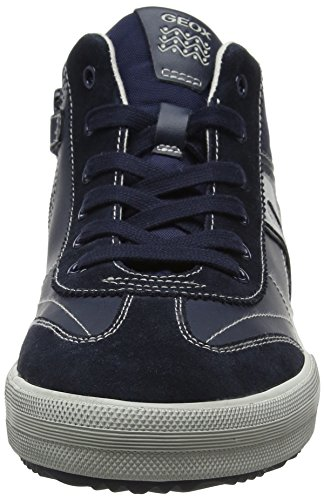 Geox J Alonisso C, Baskets Hautes Mixte Adulte Bleu (Navy/grey)