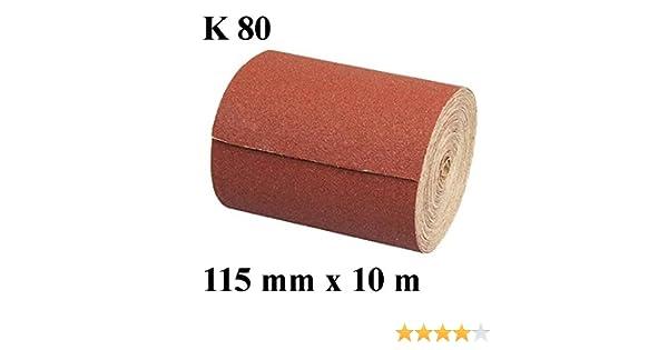 115 mm 1 x Rouleau de papier abrasif r/ésine abrasif grain 240 longueur 10 m-largeur