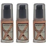 3x Max Factor Second Skin Foundation 080 Bronze - 30ml