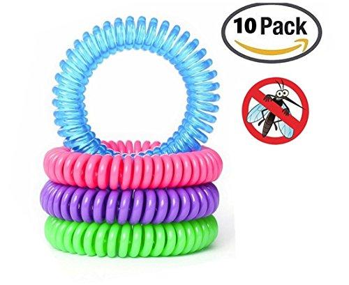 Anti Moskito Mückenschutz Armband - Insektenschutz Armbänder - DEET frei und wasserfest (10 Stück)