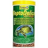 Tetra ReptoDelica Shrimps Naturfutter (für alle Wasserschildkröten, ganze Shrimps, als Ergänzungsfutter oder Leckerbissen), 1 Liter Dose