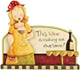Carson-Home-Accents-19828-Wine-Making-Me-Awesome-Dan-Dipole-Message-Bar,-9-1/3-Inch-By-8-1/2-Inch
