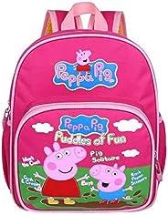 Peppa Pig George School Bag for Kids - Pink, Canvas