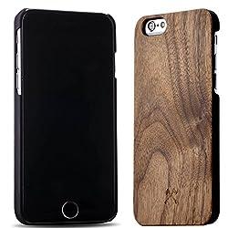 Woodcessories - EcoCase Classic - Premium Design Case, Cover, Hülle für das iPhone aus FSC zert. Holz (iPhone 6/ 6s, Walnuss/ schwarz)