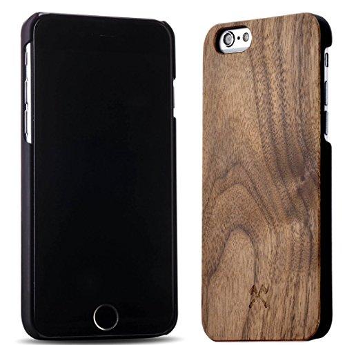 Woodcessories - EcoCase Classic - Premium Design Case, Cover, Hülle für das iPhone aus FSC zert. Holz (iPhone 6/ 6s, Walnuss/ schwarz) (Iphone 6 Holz-hülle (slim)