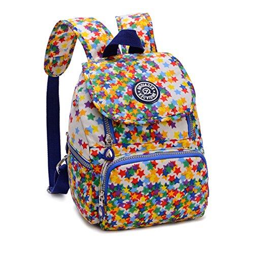 Tiny Chou Mini Nylon impermeabile zaino casual leggero Daypack, Colorful Stars (multicolore) - (Flap Satchel Handbag)