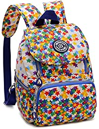 Tiny Chou Mini mochila impermeable de nailon casual, ligera y resistente, Colorful Stars (multicolor) - 8620js