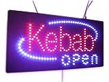Kebap Schild OPEN, Super Hell High Qualität LED Schild Open, Store, Business Zeichen, Fenster Schild