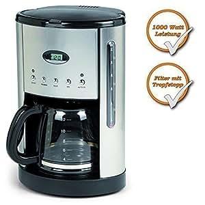 cafeti re filtre programmable en inox avec verseuse 1 8 l cuisine maison. Black Bedroom Furniture Sets. Home Design Ideas