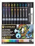 Chameleon Art Products - Marqueurs Chameleon Pens, 22 de luxe marqueurs à base d'alcool