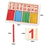 Lucky Will Colorful Wooden Counting Math Game Mathematics Toys Kids Preschool Education Intelligence Stick for Kids Toddlers