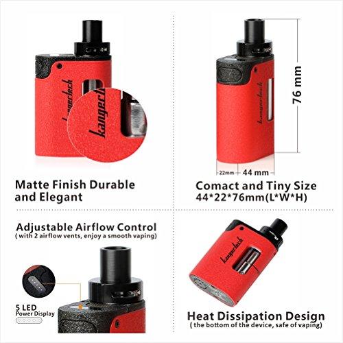 E-Zigarettes-Alles-in-Einem-Starter-Set-Kangertech-Togo-Mini-20-with-Wiederaufladbar-1600mAh-Akku-Mod-Dampfer-Vape-Starterset-E-Shisha-Zerstuber-mit-CLOCC-Spule-Nikotinfrei