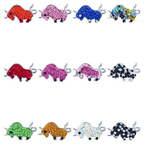 Soleebee misti lega polimerica Bull Snap Charms Bottoni gioielli (pacchetto di 12)