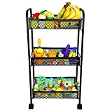 MOCHEN Metal Rolling Cart - These Utility Carts are Useful for Kitchen Pantry